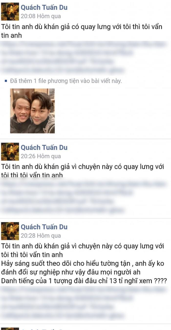 Sao Việt ủng hộ Hoài Linh sau clip nói về số tiền 14 tỷ: Quách Tuấn Du sửa status cả chục lần để bảo vệ Ảnh 3