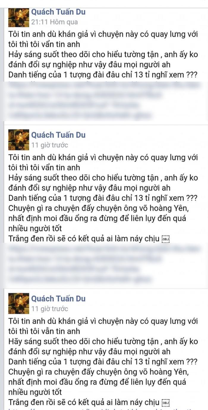 Sao Việt ủng hộ Hoài Linh sau clip nói về số tiền 14 tỷ: Quách Tuấn Du sửa status cả chục lần để bảo vệ Ảnh 4