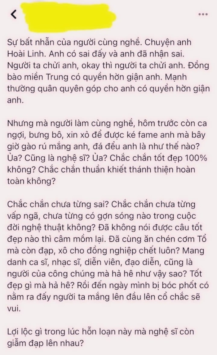 Thu Minh thả tim dưới bài đăng chỉ trích nhiều nghệ sĩ 'dẫm đạp' lên nhau liên quan tới vụ Hoài Linh Ảnh 1