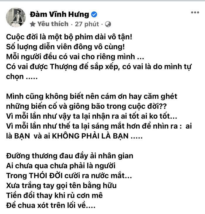 Đàm Vĩnh Hưng đăng đàn ẩn ý sau khi bị bà Nguyễn Phương Hằng công kích chuyện làm từ thiện Ảnh 3