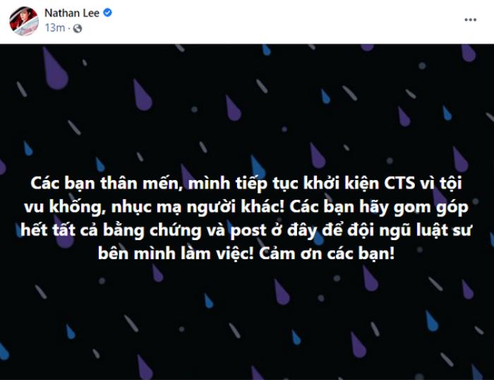 Nathan Lee tuyên bố khởi kiện Cao Thái Sơn, Nguyễn Văn Chung có phát ngôn gây chú ý Ảnh 1