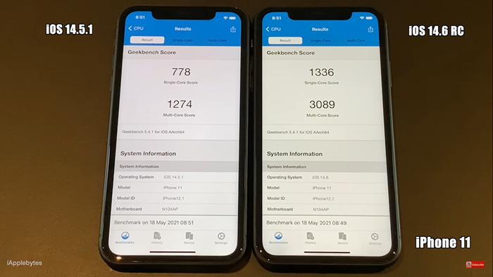 Đọ hiệu năng iOS 14.6 với iOS 14.5.1: Đã sửa được lỗi giảm hiệu năng trên iPhone 11, iPhone 12? Ảnh 5
