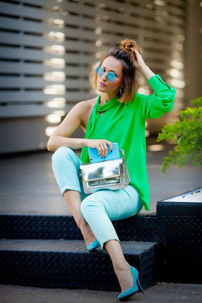 Mách nàng bí quyết phối đồ với màu xanh lá chuẩn như fashionista Ảnh 15