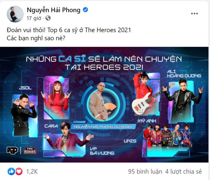 'Gạt bỏ' Erik và Quân AP, Master Nguyễn Hải Phong chỉ ra 6 gương mặt sẽ 'làm nên chuyện' tại The Heroes Ảnh 6