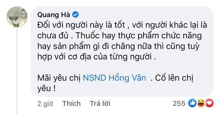 Ca sĩ Quang Hà hứng chịu làn sóng chỉ trích khi lên tiếng bênh vực NSND Hồng Vân Ảnh 1