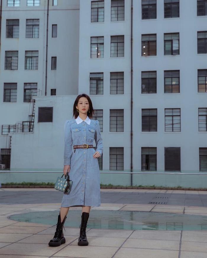 Dương Tử xuất hiện nhạt nhòa với trang phục denim tại show thời trang Ảnh 2