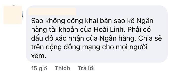 Dân mạng yêu cầu ekip NSƯT Hoài Linh sao kê số tiền cứu trợ hơn 15,2 tỷ Ảnh 6