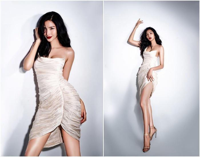 'Cuộc chiến váy áo' của Mai Phương Thúy, Hoàng Thùy, Bảo Anh, mỹ nhân nào sáng nhất? Ảnh 3