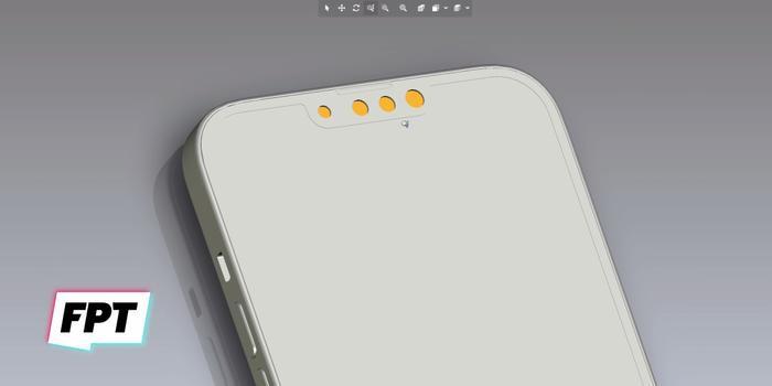 iPhone 13 màu cam đẹp ngất ngây, độc lạ bất ngờ với camera xếp chéo Ảnh 1