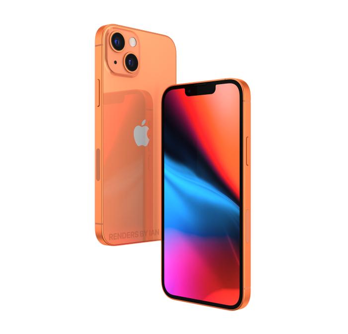 iPhone 13 màu cam đẹp ngất ngây, độc lạ bất ngờ với camera xếp chéo Ảnh 4
