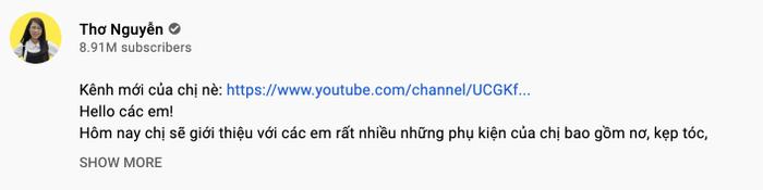Thơ Nguyễn lập thêm kênh YouTube, đổi nghệ danh dù mới ngày nào từng khóc lóc xin giải nghệ Ảnh 4