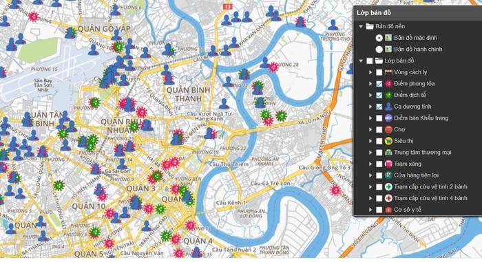 Người dân TP.HCM đã có thể xem trực tuyến bản đồ tình hình dịch COVID-19 từ hôm nay Ảnh 3