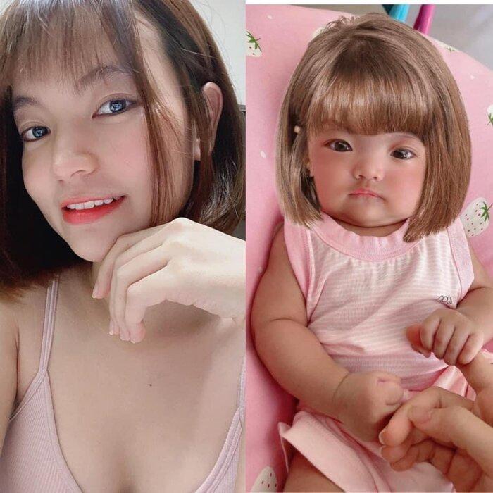 Hết chế tóc giả, vợ Mạc Văn Khoa chuyển sang dùng kẹp tóc làm điệu cho con gái Ảnh 7
