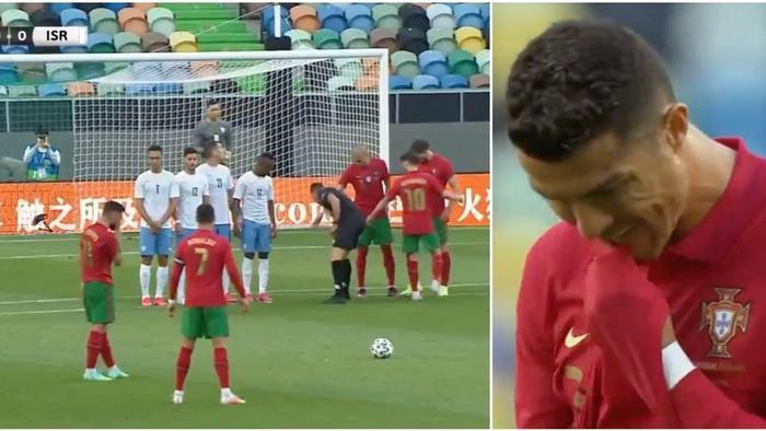 Ronaldo biến mình thành trò cười với pha sút phạt thảm họa nhất sự nghiệp Ảnh 1