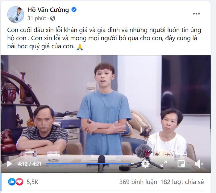 Hồ Văn Cường hốc hác xuất hiện cùng bố mẹ ruột, lên tiếng về ồn ào của ca sĩ Phi Nhung và 'cậu IT' Ảnh 2