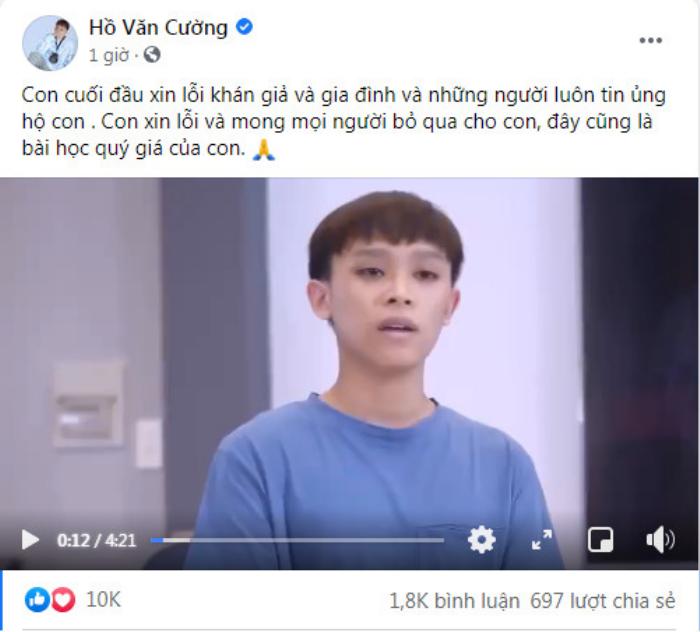 Hồ Văn Cường đăng clip xin lỗi và đính chính tin đồn với mẹ nuôi Phi Nhung, dân mạng phản ứng ra sao? Ảnh 1