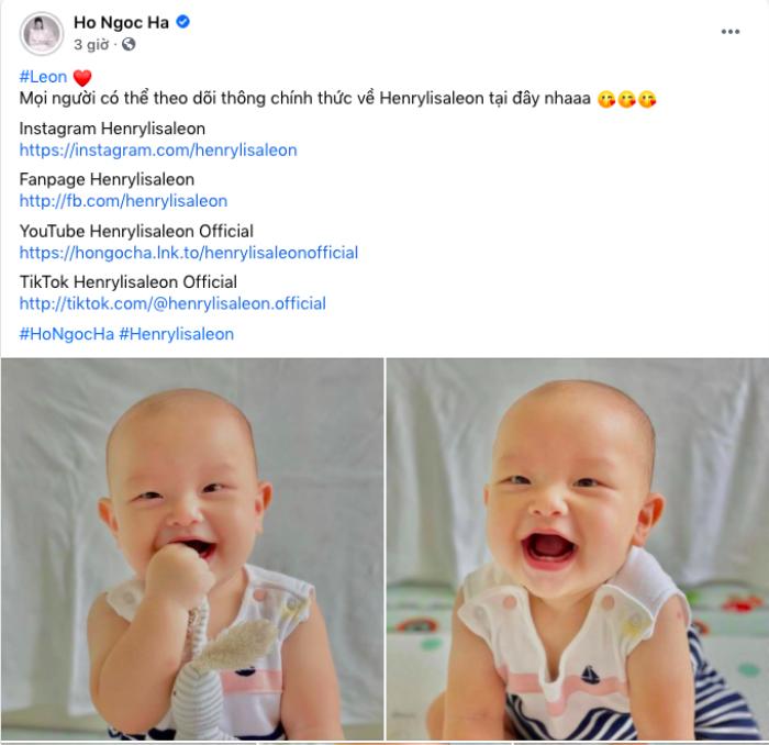 Hà Hồ tiết lộ 'khuyết điểm' trên gương mặt bé Leon, Diệu Nhi để lại bình luận thừa nhận 'dao kéo' Ảnh 1