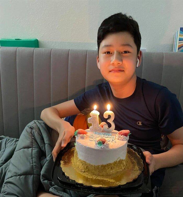 Con trai Jennifer Phạm - Bảo Nam phổng phao ở tuổi 14, ai cũng khen quá đẹp trai Ảnh 4