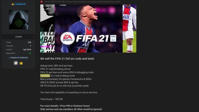 EA bị hacker tấn công, đánh cắp mã nguồn FIFA 21 cùng nhiều trò chơi khác Ảnh 2