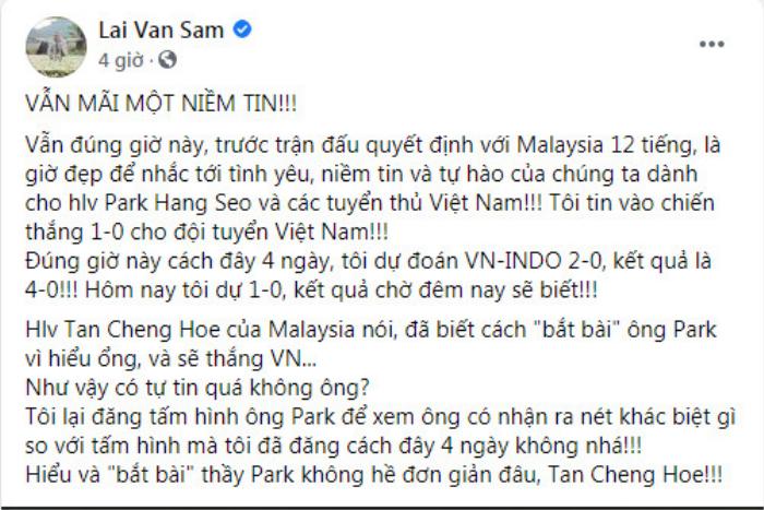 Trước giờ G, dàn sao Việt trổ tài dự đoán tỉ số trận Việt Nam - Malaysia Ảnh 2