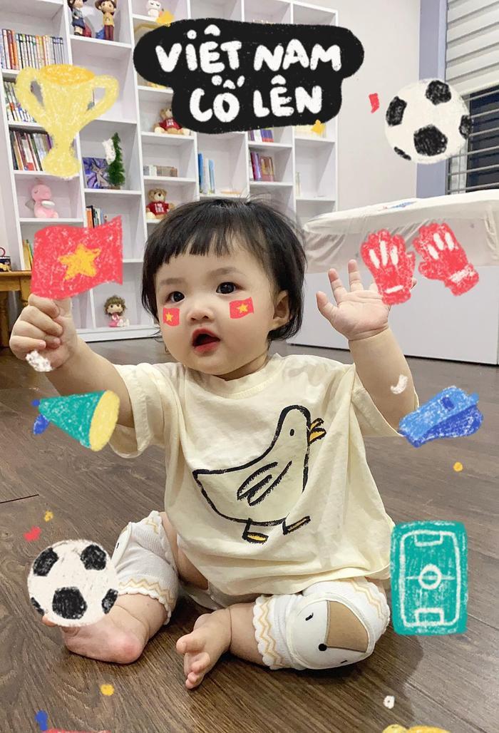 'Cổ động viên nhí' Winnie vẽ icon quốc kì siêu dễ thương tiếp sức cho đội tuyển Việt Nam trước giờ G Ảnh 2