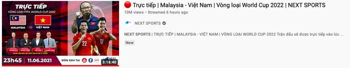 3 triệu người xem đội tuyển Việt Nam hạ gục Malaysia cùng lúc trên YouTube Ảnh 4