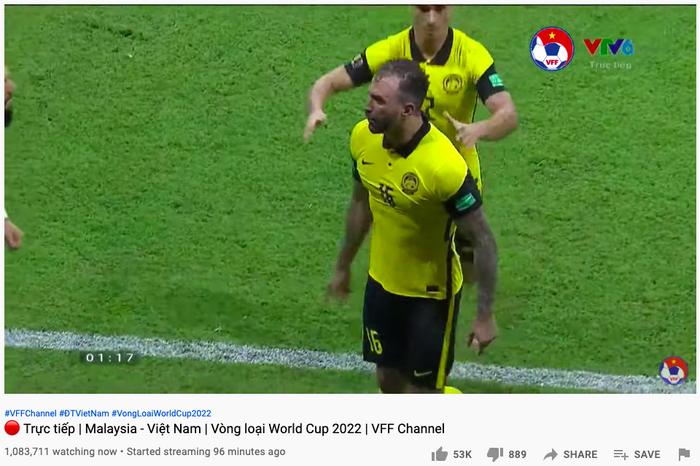 3 triệu người xem đội tuyển Việt Nam hạ gục Malaysia cùng lúc trên YouTube Ảnh 2