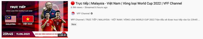 3 triệu người xem đội tuyển Việt Nam hạ gục Malaysia cùng lúc trên YouTube Ảnh 3