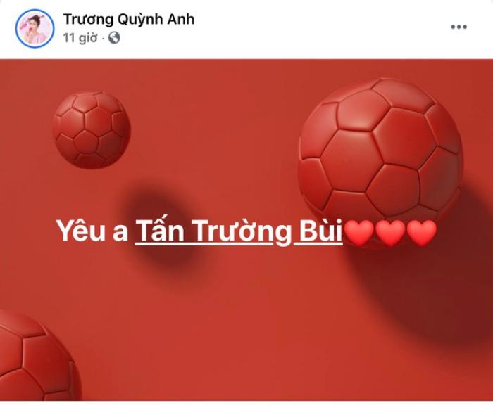 Phản ứng của thủ môn Bùi Tấn Trường khi được Trương Quỳnh Anh 'nói lời yêu' Ảnh 2