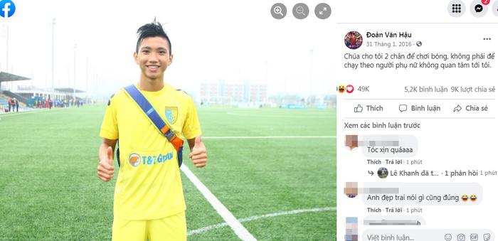 Netizen bất ngờ 'đào ảnh dĩ vãng' ăn tết 2016 của Đoàn Văn Hậu với mái tóc 'đỉnh của chóp'