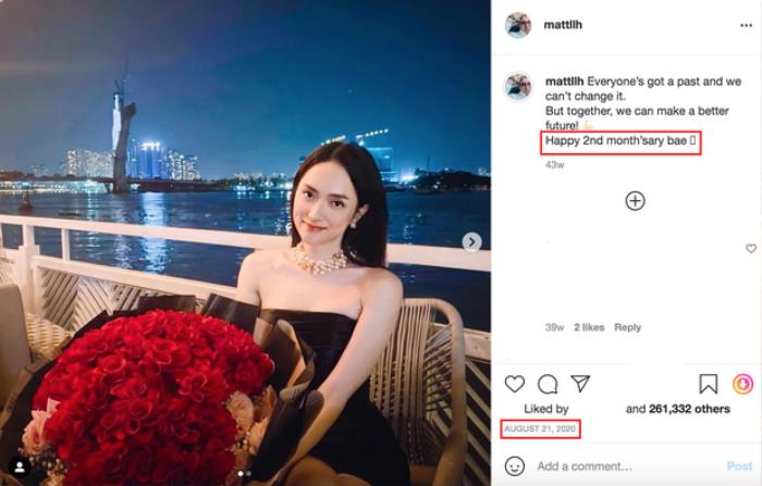 Matt Liu có câu trả lời về tình trạng quan hệ với Hương Giang bằng một bức ảnh lúc giữa đêm Ảnh 3