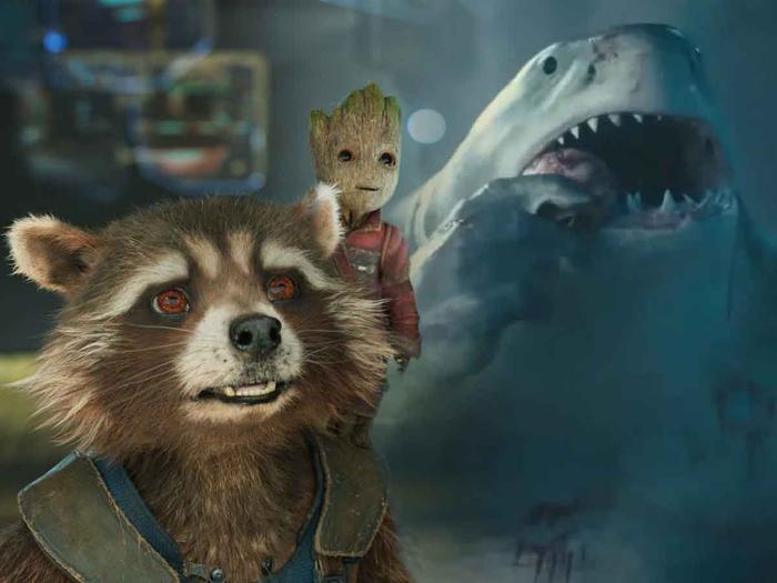 King Shark có kỹ xảo khó hơn nhiều so với Groot và Rocket?