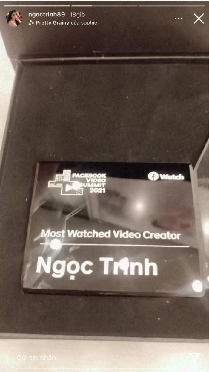 'Nhà sáng tạo nội dung được xem nhiều nhất' gọi tên Ngọc Trinh: 885 triệu lượt xem trong năm qua Ảnh 1