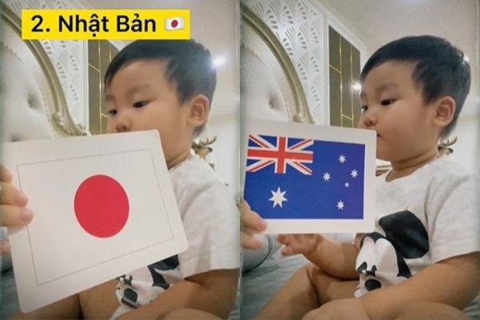 'Đọ trí nhớ' với con trai Hòa Minzy: Liệu bạn có đọc tên được quốc kì các nước trên thế giới không? Ảnh 2