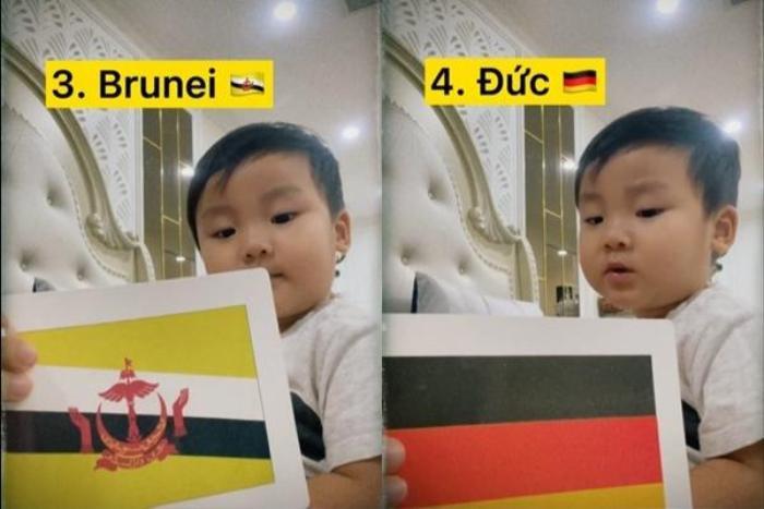 'Đọ trí nhớ' với con trai Hòa Minzy: Liệu bạn có đọc tên được quốc kì các nước trên thế giới không? Ảnh 3