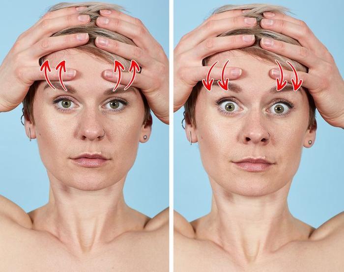 7 bài tập thể dục cho mặt giúp loại bỏ nếp nhăn trong 10 phút Ảnh 1