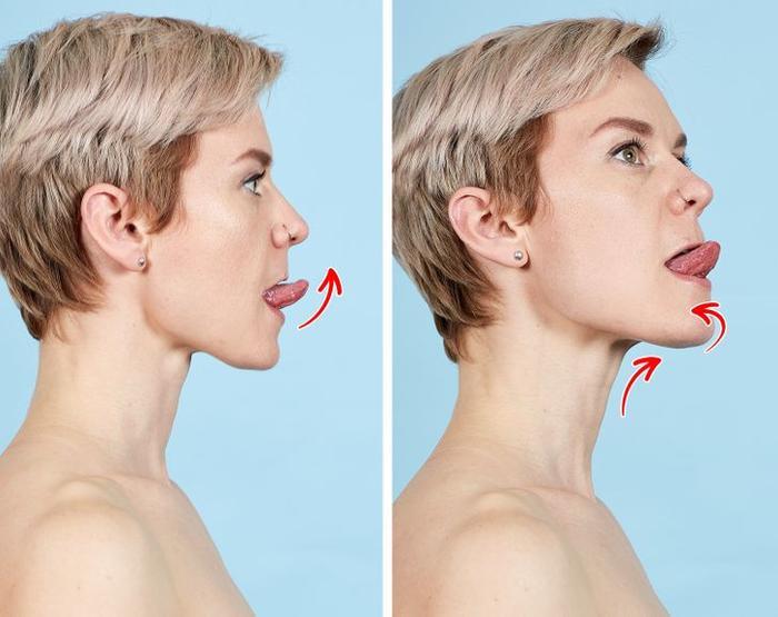 7 bài tập thể dục cho mặt giúp loại bỏ nếp nhăn trong 10 phút Ảnh 5