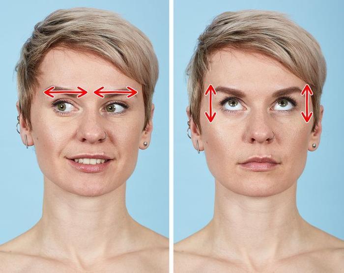 7 bài tập thể dục cho mặt giúp loại bỏ nếp nhăn trong 10 phút Ảnh 2