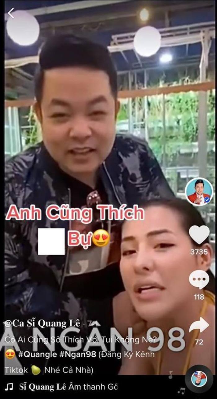 Quang Lê 'nổi đoá' khi clip 'suồng sã Ngân 98' đột nhiên chia sẻ lại Ảnh 2
