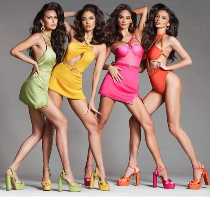4 đại hoa hậu Philippines khiến fan bấn loạn khi khoe dáng ướt át nóng bỏng trong một khung hình Ảnh 3
