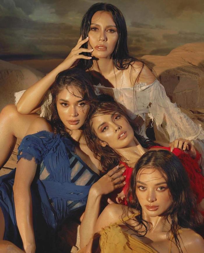 4 đại hoa hậu Philippines khiến fan bấn loạn khi khoe dáng ướt át nóng bỏng trong một khung hình Ảnh 2