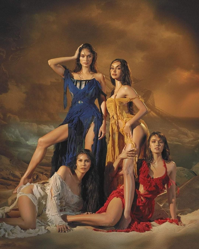 4 đại hoa hậu Philippines khiến fan bấn loạn khi khoe dáng ướt át nóng bỏng trong một khung hình Ảnh 1