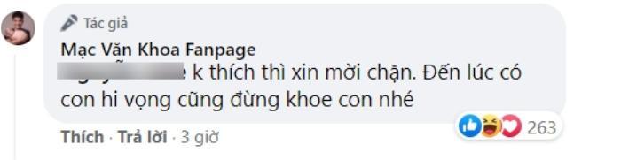 Mạc Văn Khoa cãi nhau 'tưng bừng' với anti-fan chỉ vì gọi con gái là 'cô hai bún đậu'