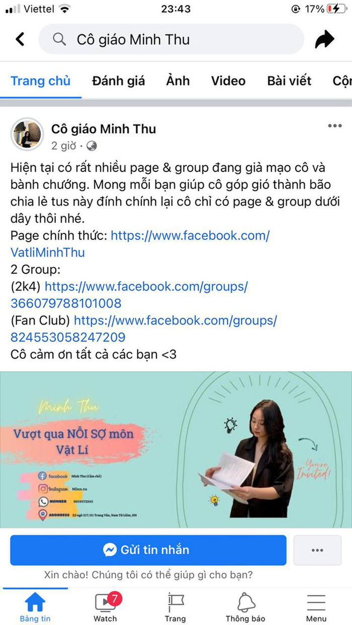 Sức hút của cô giáo Minh Thu: Fanpage 'pha-ke' cũng hot với hàng trăm ngàn bình luận Ảnh 2