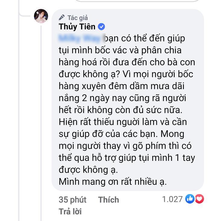 Thủy Tiên bức xúc đáp trả anti-fan 'bớt gõ phím', cầu xin đi bốc hàng cứu trợ sau khi bị tố 'nhận vơ' Ảnh 2