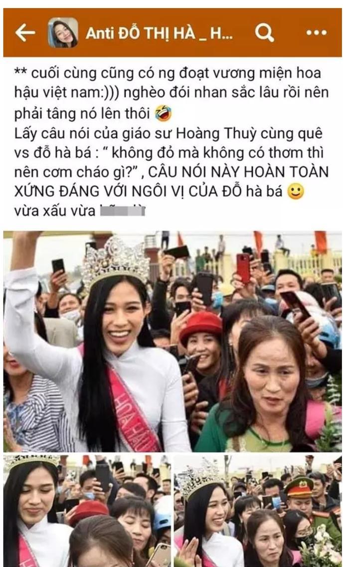 Xuất hiện group anti Đỗ Thị Hà, gọi cô là 'Hoa hậu 0 đồng' Ảnh 2