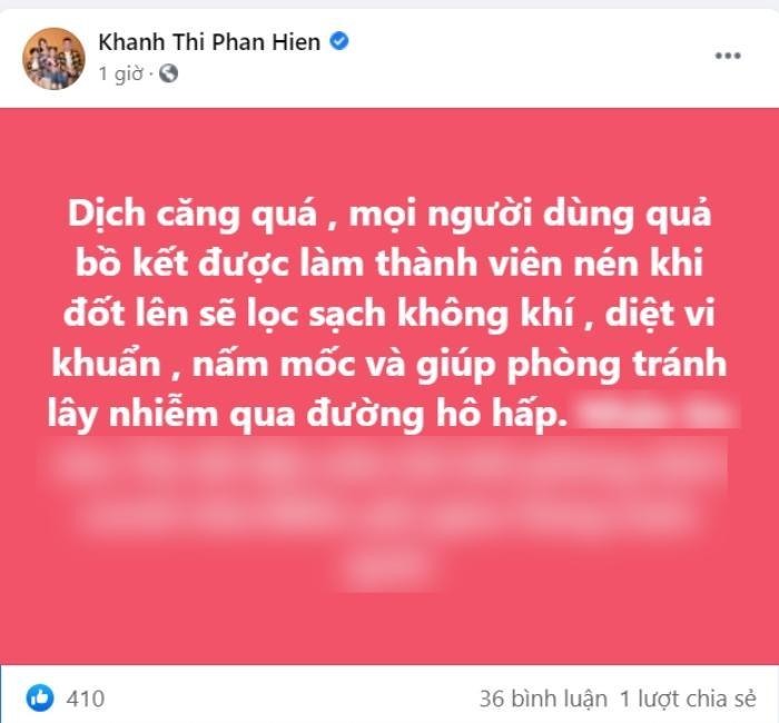 Khánh Thi - Phan Hiển bày mẹo chống dịch, nào ngờ bị chỉ trích: 'Hóa ra chào mời để bán hàng'