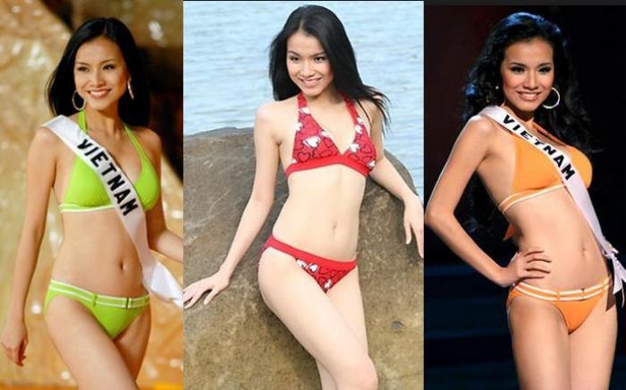 4 Hoa hậu Hoàn vũ Việt Nam thời còn thi thố, diện bikini body ai 'đỉnh' nhất? Ảnh 2