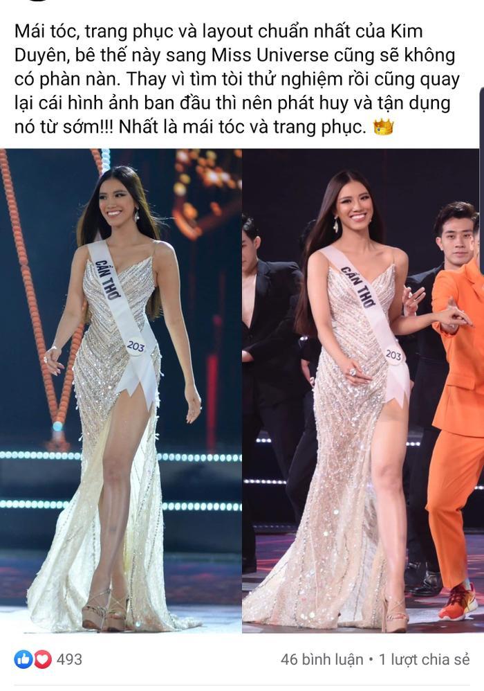 Fan gợi ý layout chuẩn Miss Universe cho Kim Duyên, e-kip không cần tìm tới tìm lui làm gì cho mệt Ảnh 1