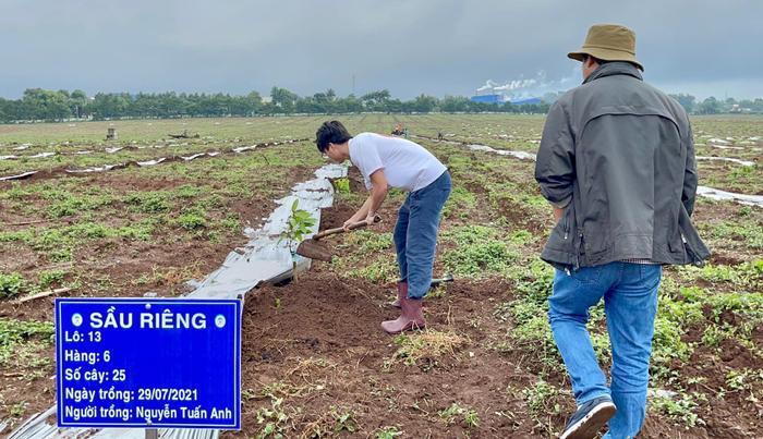 Cận cảnh bầu Đức, Kiatisak, Công Phượng đi trồng cây sầu riêng Ảnh 5